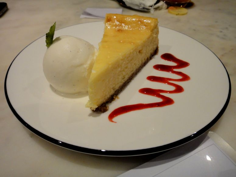 Lemon Cheese Cake with Lemon Ice Cream @PizzaExpress