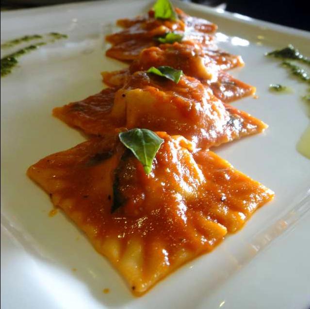 Sweet Potato and Feta Cheese Ravioli @RaraAvis. Rating- 4/5