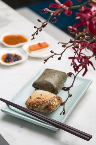 Mushroom Zongzi/Rice Dumpling at Yauatcha