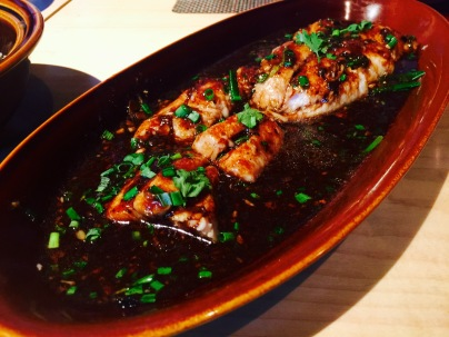 Steamed red snapper in black bean sauce at chao bella