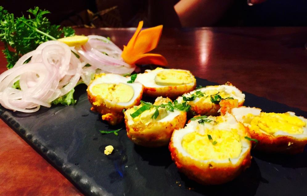 Tandoori Eggs at Wok in the Clouds