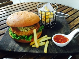 Potato and coriander burger