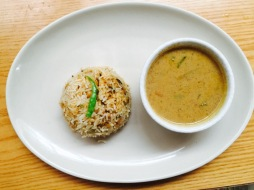 Navratan Korma with Chole Rice