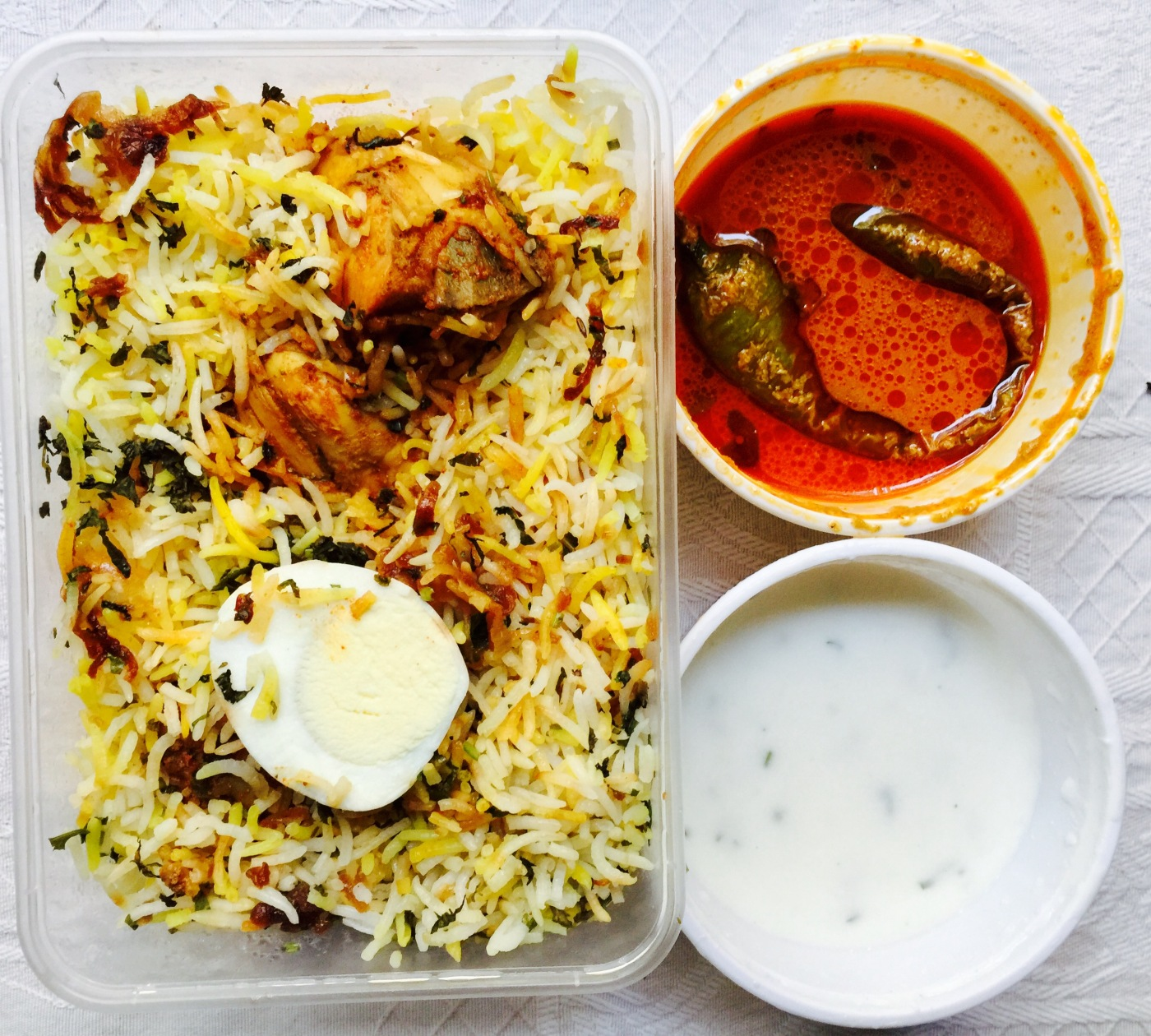 Chicken Biryani with Salan