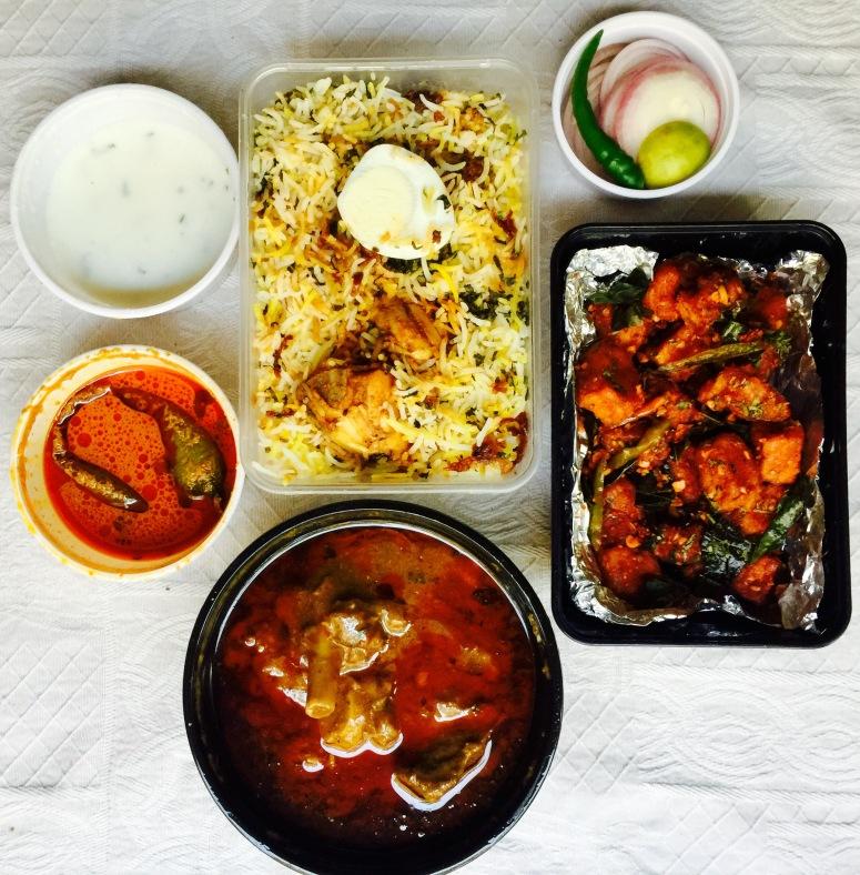 Paneer 65, Chicken Biryani and Nalli Nihari