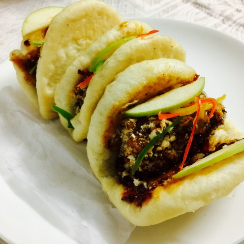Crackling Pork Belly Baos