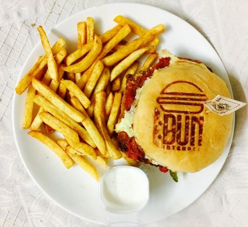 Cajun Crispy Chicken Burger
