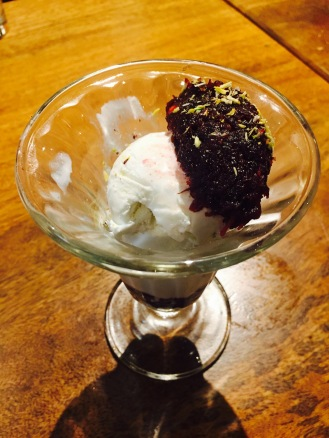 Beetroot Halwa with Ice Cream
