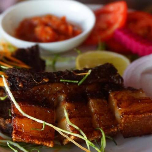 Pork Ribs with Raja Mircha