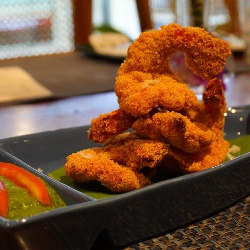 Rawa fried prawns