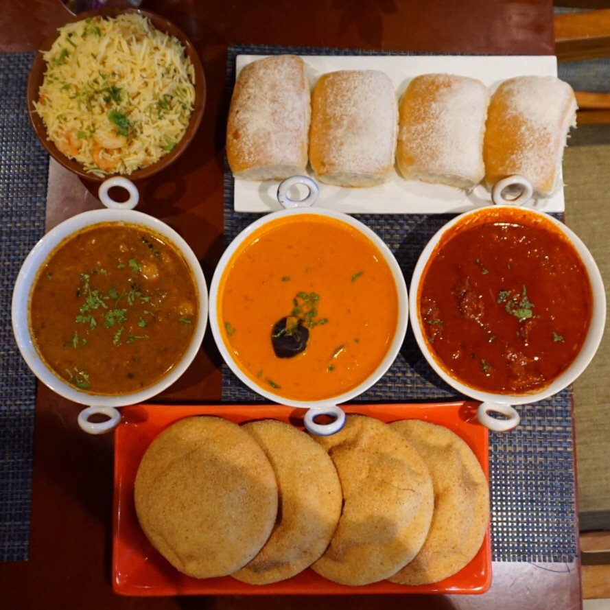 Pork Vindaloo, Goan Fish Curry and Breads
