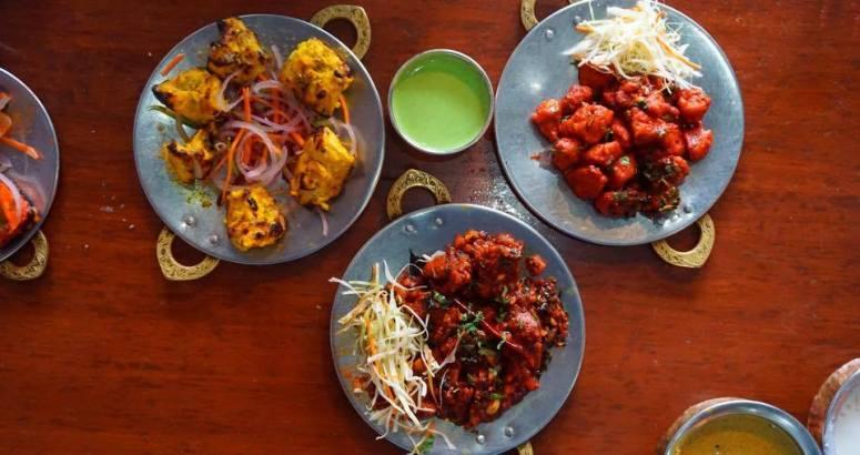 Chicken lehsuni tikka, chicken 65 and Andhra mutton fry