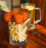 Cheeseburst chicken poppers
