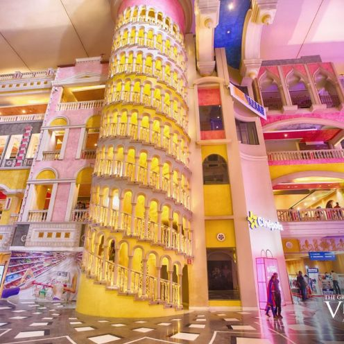 Replica of Leaning Tower of Pisa at The Grand Venice