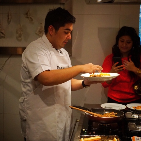 Chef Mirvaan giving final touches to his dish