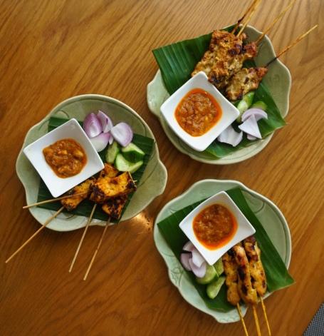 Lamb Satay, Chicken Satay and Tofu Satay