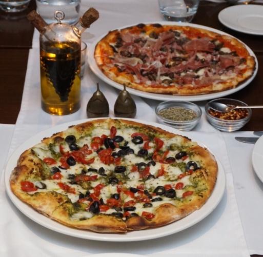 Prosciutto(Top) and La Bufala(Bottom)