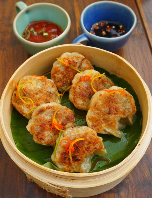 Pan-Fried Prawn Dumplings