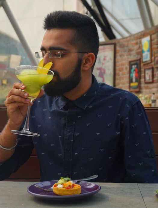 The Food Fanatic Enjoying Margarita