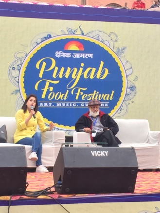 Chef Amrita Raichand with Pushpesh Pant