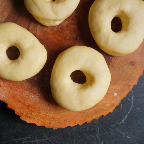 Ring Doughnuts ready to be fried