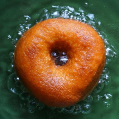 Perfectly golden brown doughnut