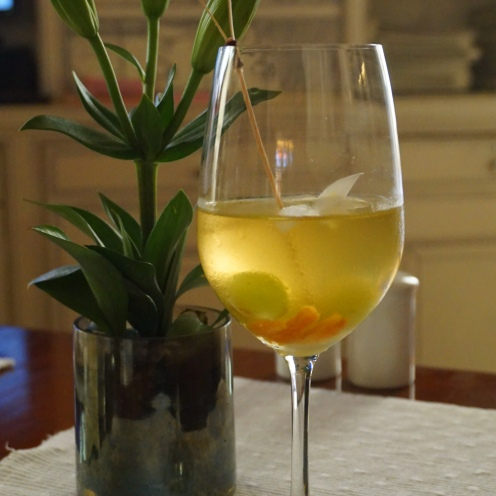 Ivory and Peach Sangria