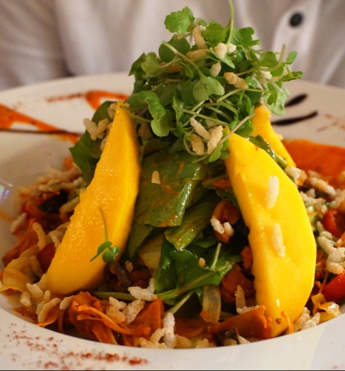 Safeda Mango and BBQ jackfruit Salad
