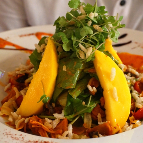 Safeda Mango and BBQ jackfruit Salad