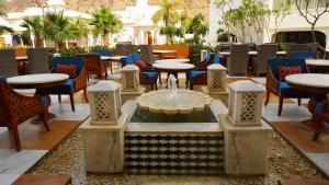 Open seating at Sukh Mahal