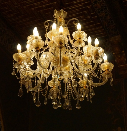 Chandelier inside The Golden Room