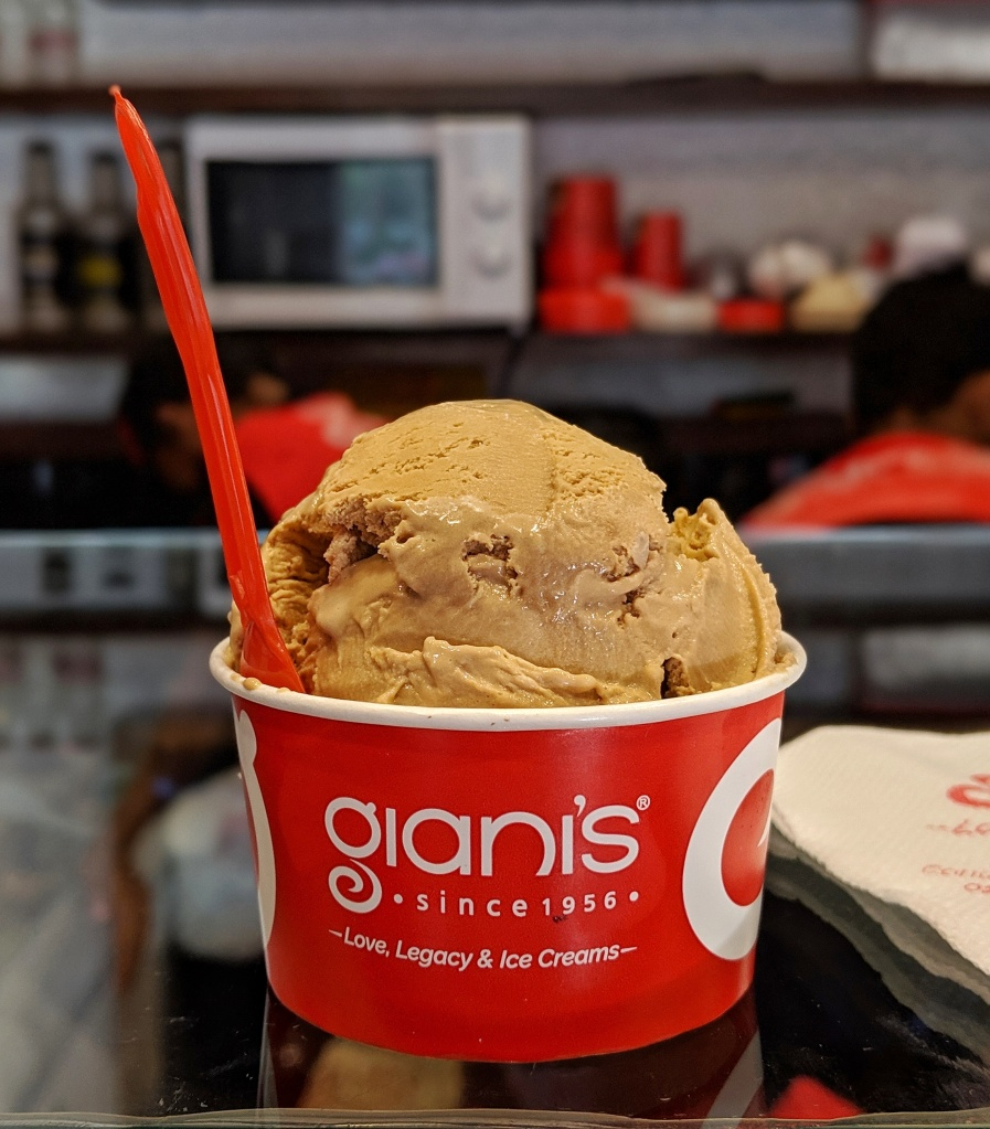 Coffee Ice Cream at Giani's