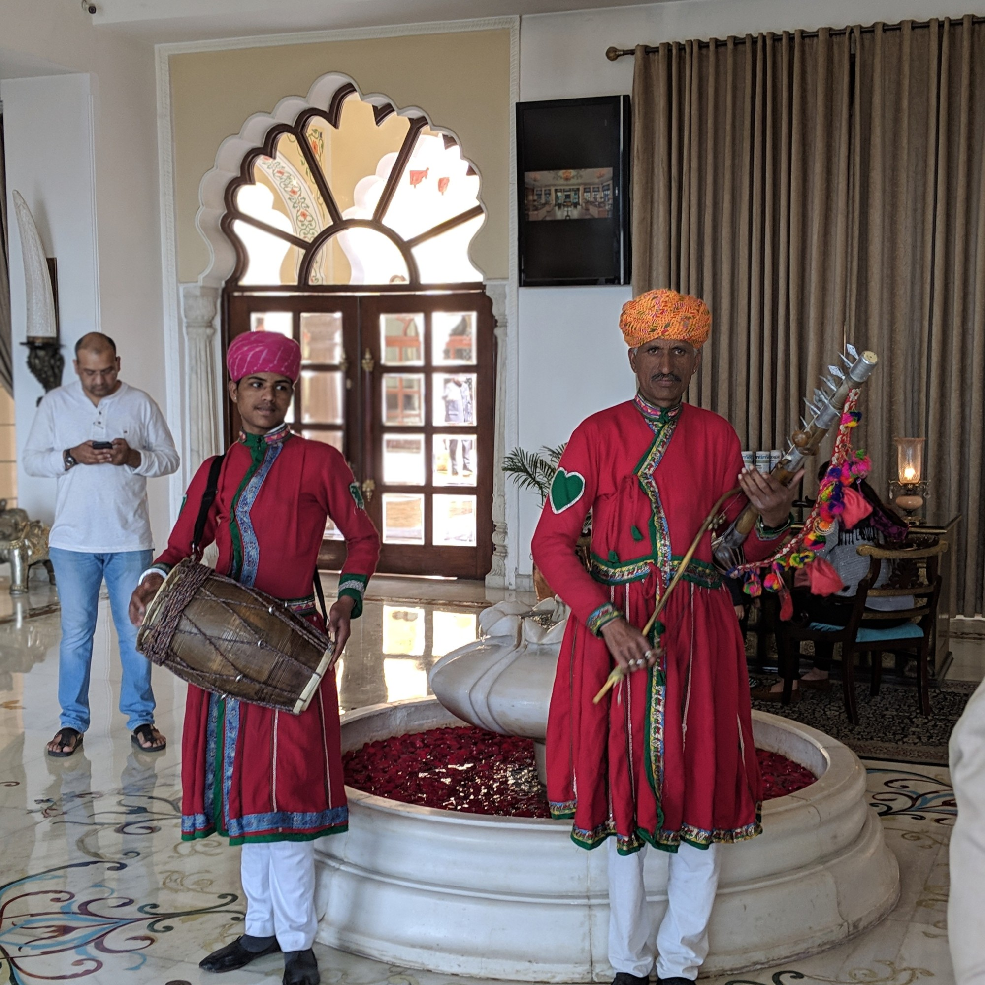 Welcome with folk songs at Noor Mahal