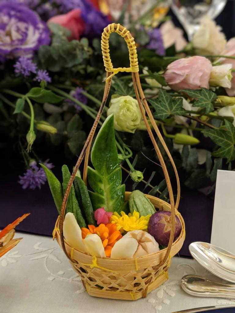 Fresh vegetables basket