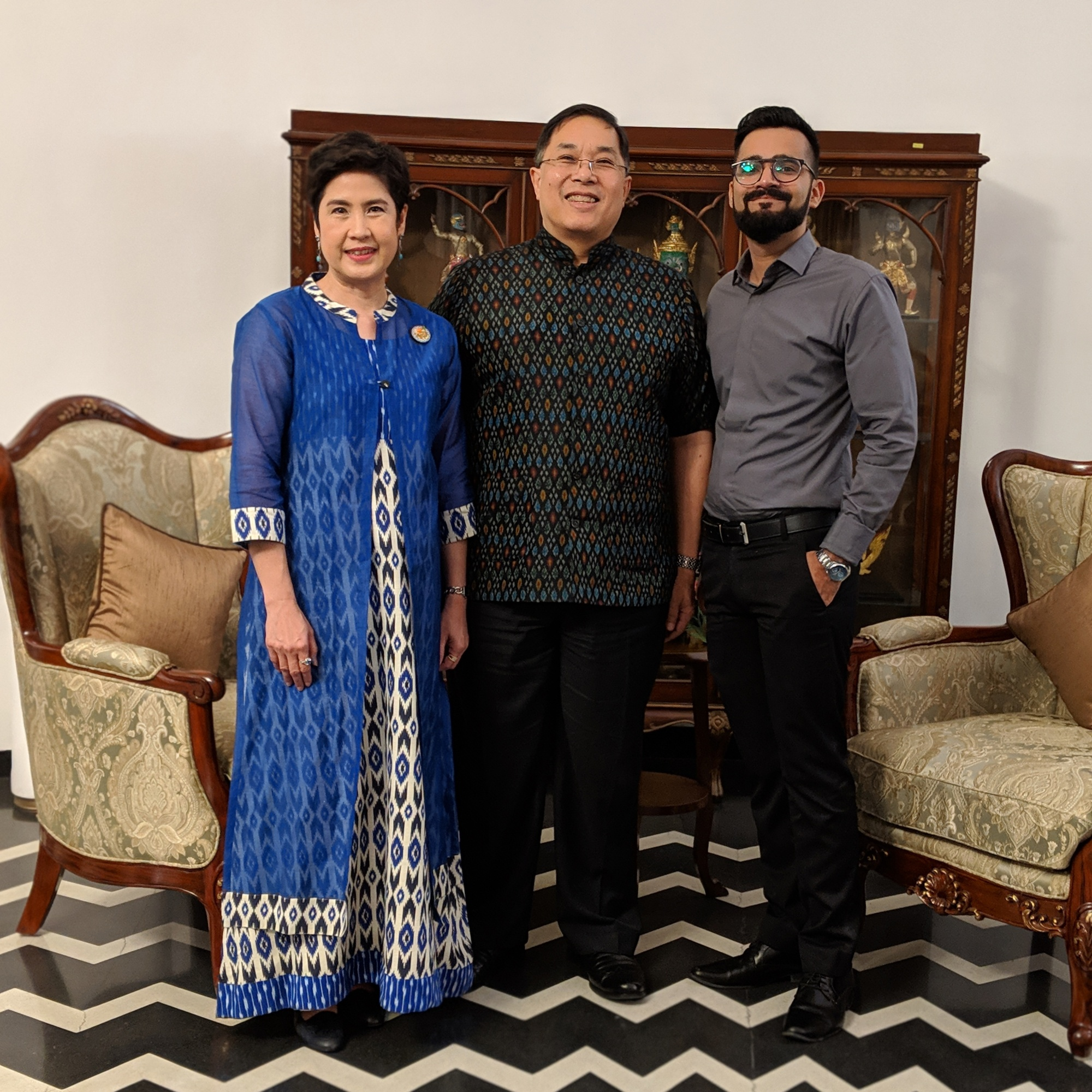 The Food Fanatic with the Ambassador of Thailand and his better half