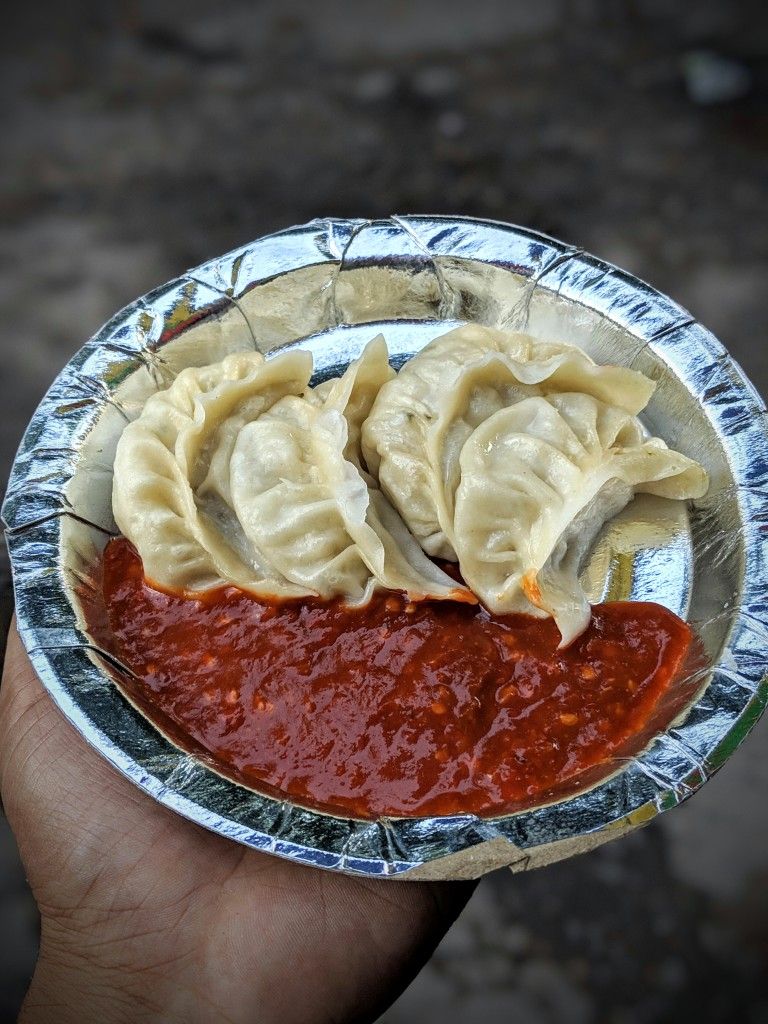 Street Chicken Momos
