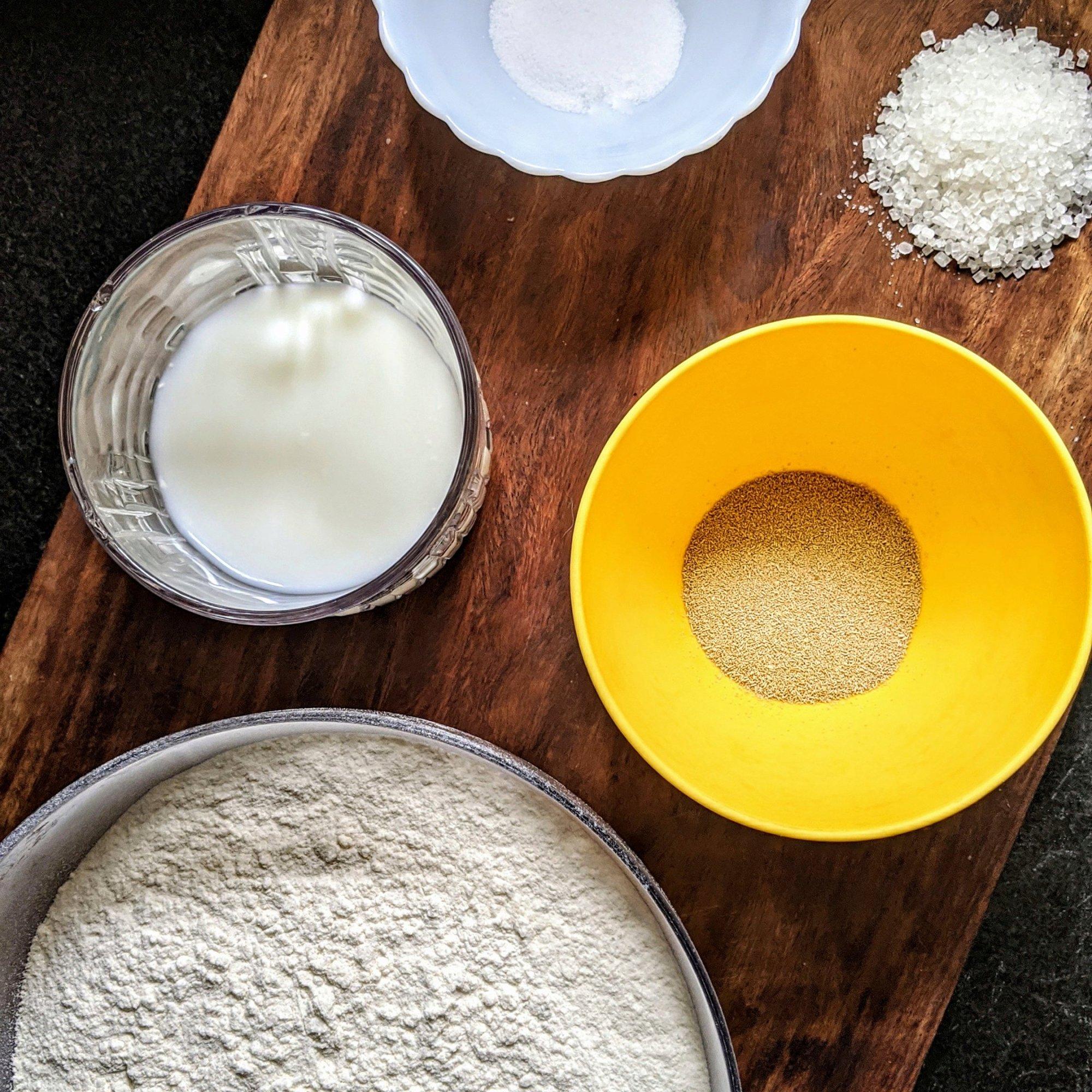 Ingredients for Garlic Buns
