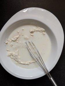 Add buttermilk and butter mixture