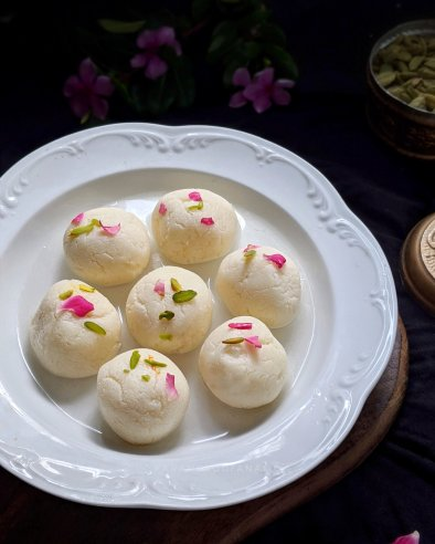 Soft and Spongy Homemade Rasgullas