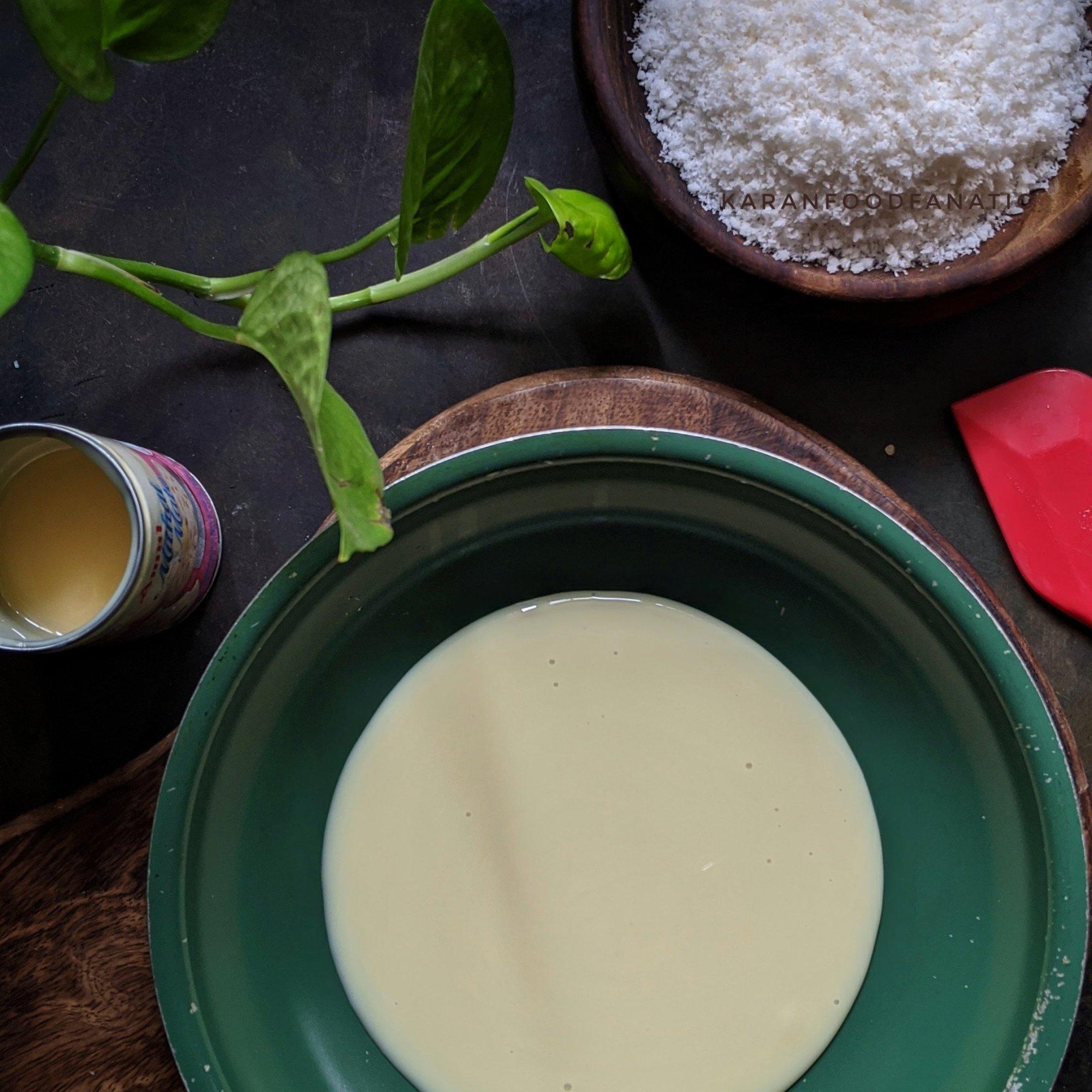 Take condensed milk