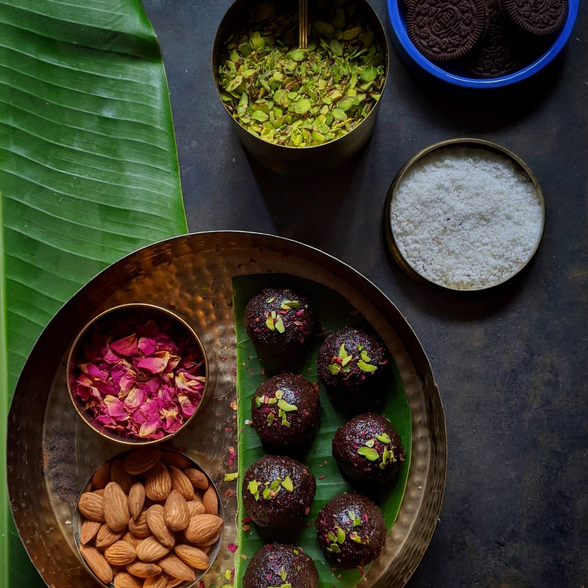 Oreo Surprise Coconut Laddoos are ready