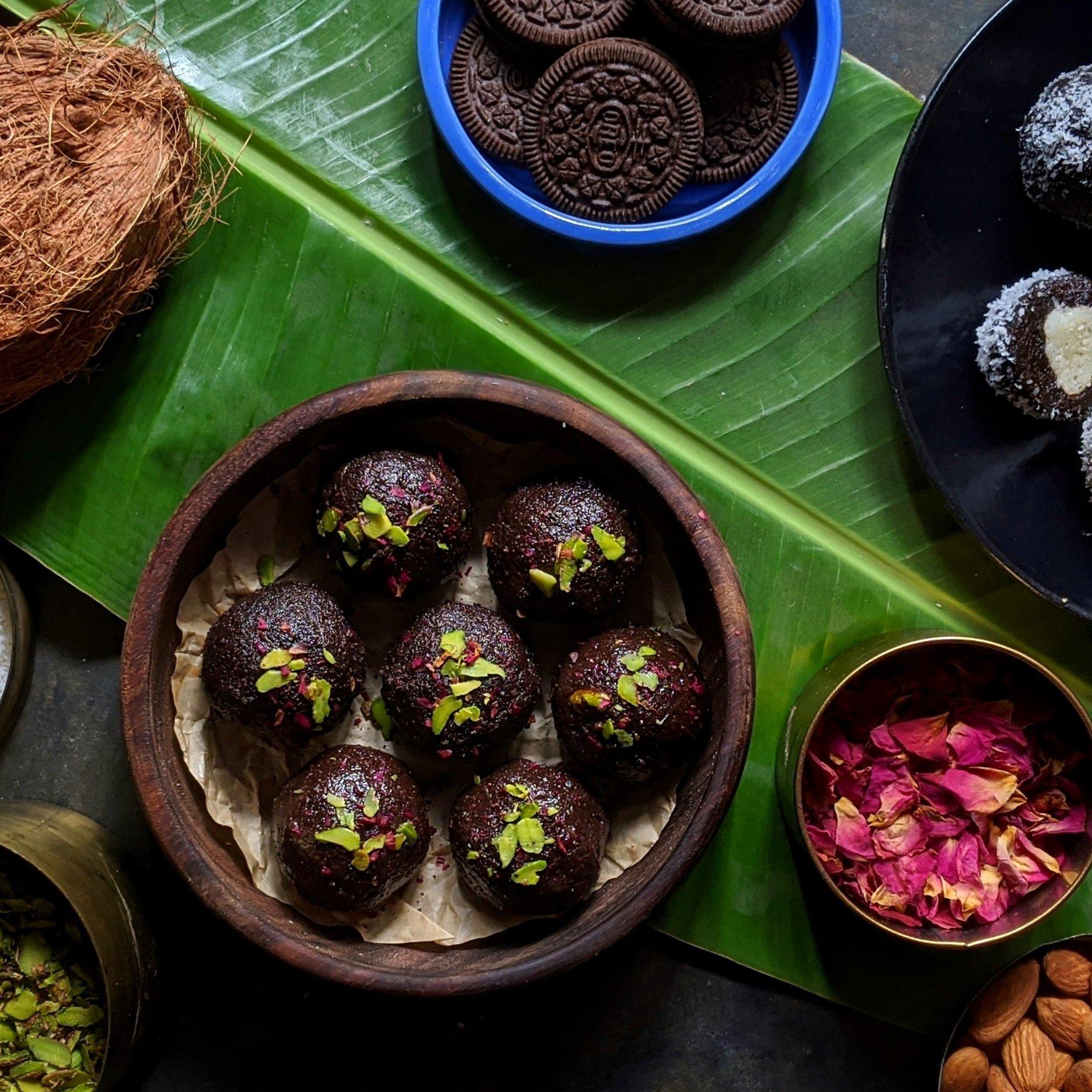 Oreo Surprise Coconut Laddoos
