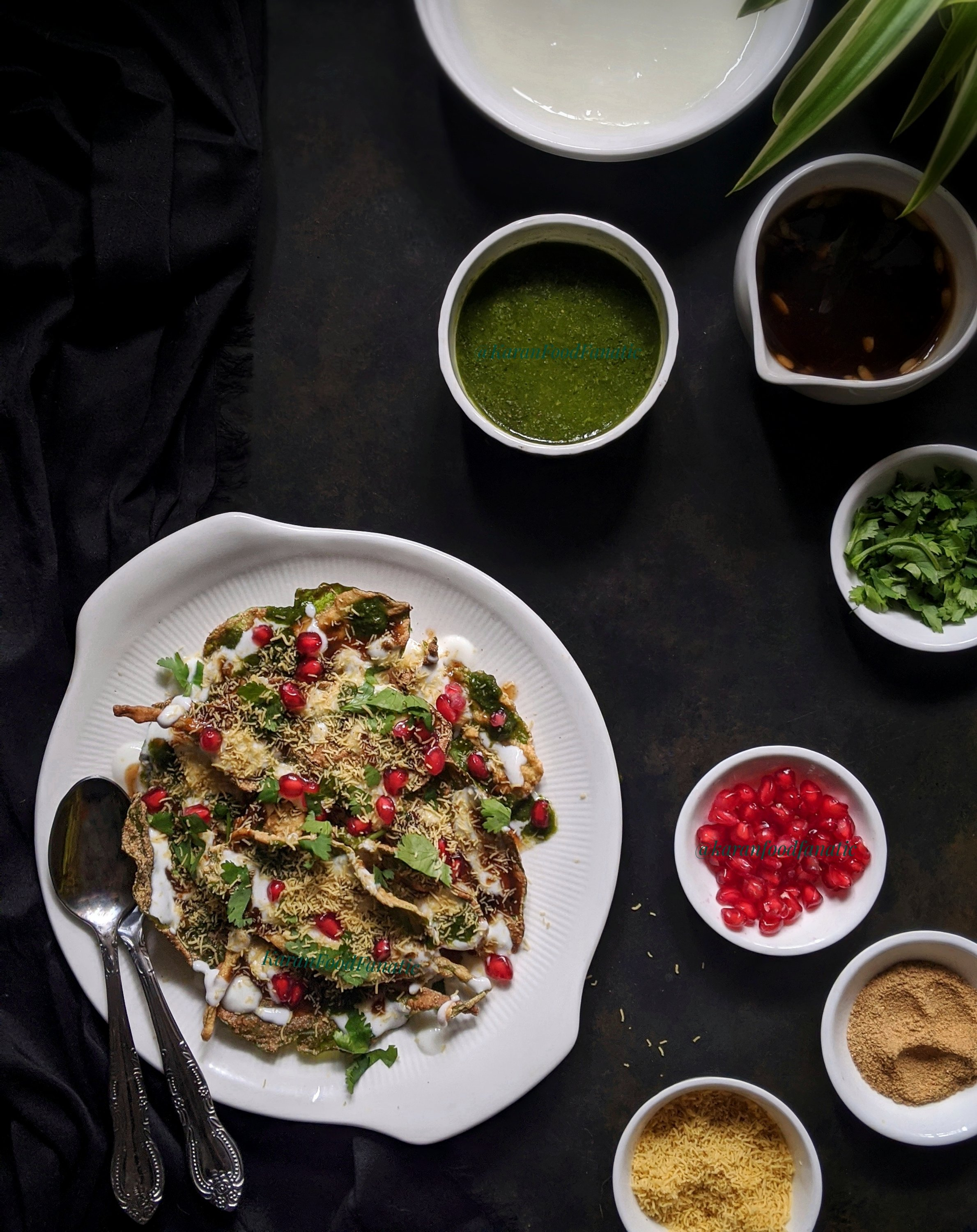 Spinach Leaves Chaat
